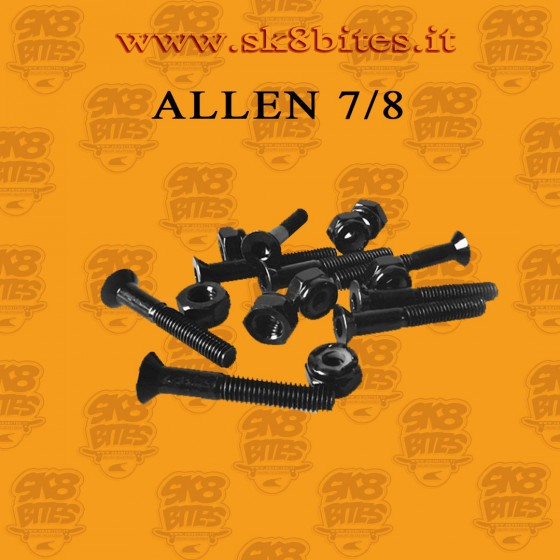 Allen Nuts and Bolts 7/8 Black Bolts and Nuts Skateboard Street Cruising Hardware