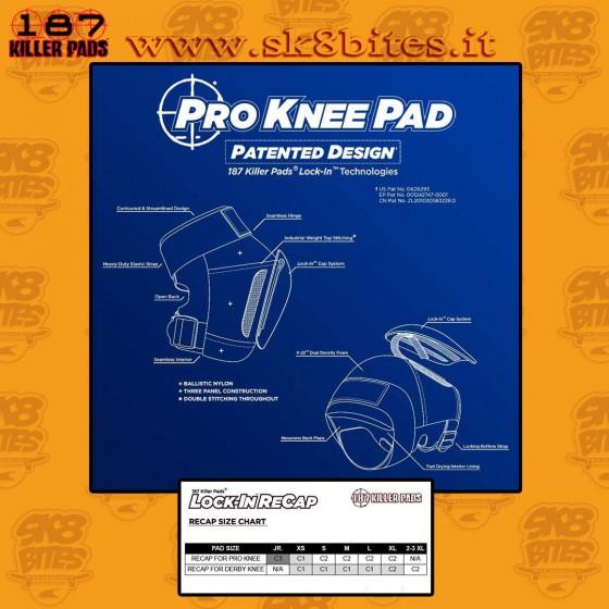 187 Pro Knee Pads Black Skateboard Street Skatepark Knee Pads