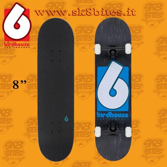 "Birdhouse B Logo Blue 8"" Complete Skateboard Street Pool Deck"