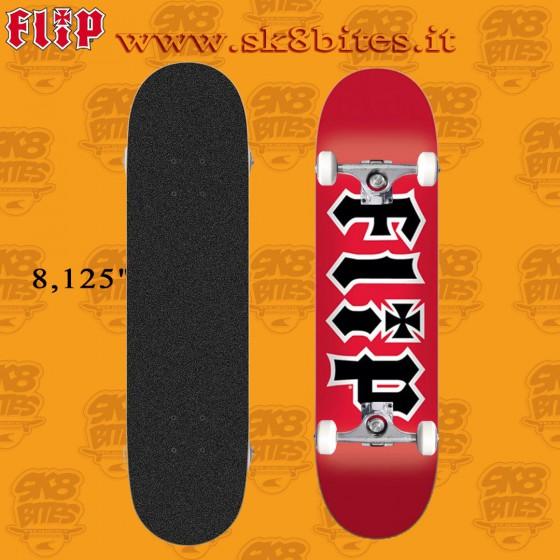 """Flip HKD Team Red 8,125"""" Skateboard Street Pool Deck"""