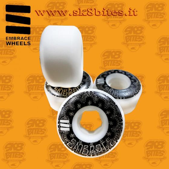Embrace Bandana 54mm 101a Black Skateboard Street Pool Wheels