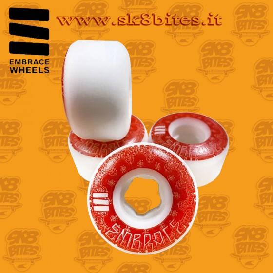 Embrace Bandana 53mm 101a Red Skateboard Street Pool Wheels