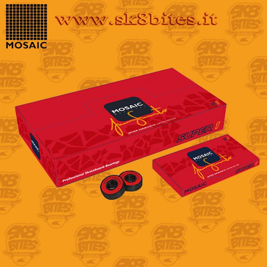 Mosaic Super 1 Javier Sarmiento Abec 7 Red Skateboard Street Pool Bearings