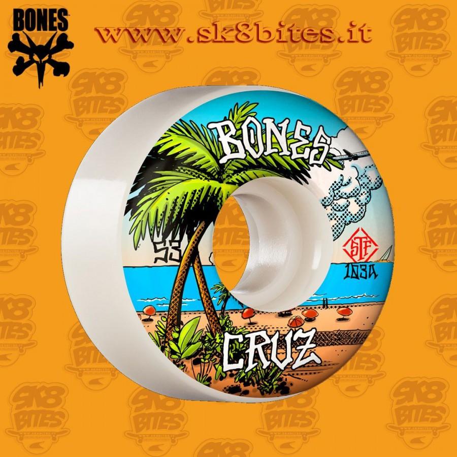 Bones Pro STF Cruz Buena Vida 53mm V2 Locks 103A Skateboard Street Pool Wheels