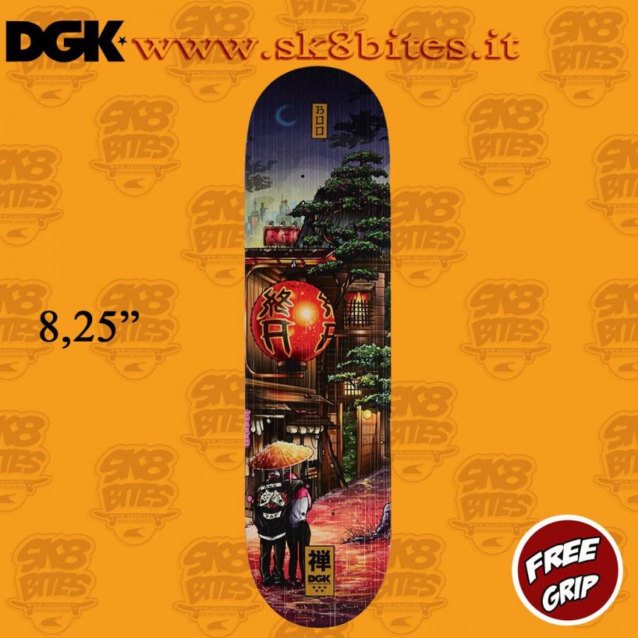 """DGK Skateboards Zen Boo 8.25"""" Skateboard Street Pool Deck"""