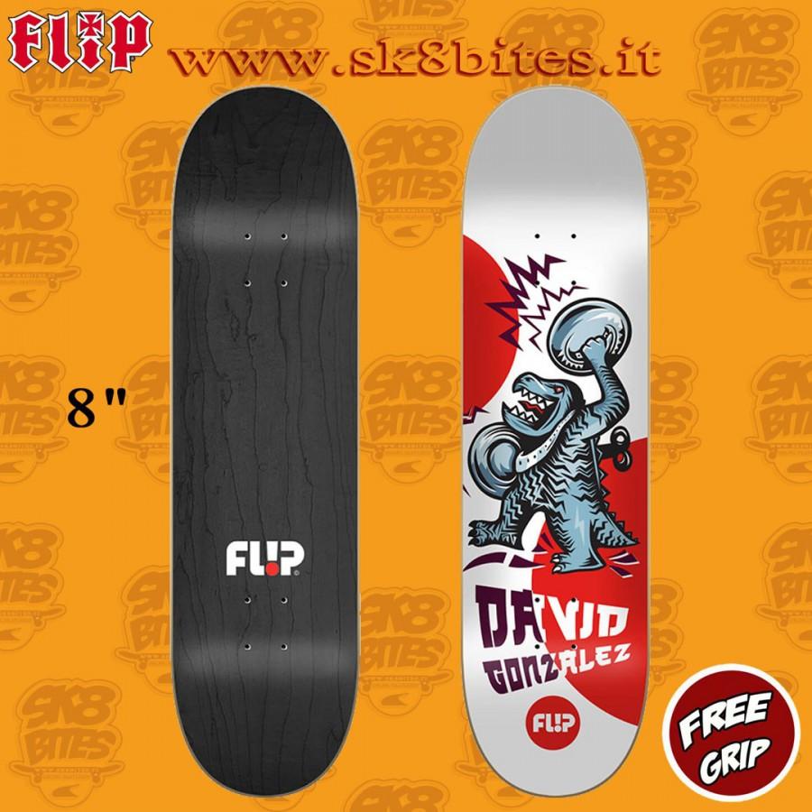 "Flip Team Red HKD Fast Times 8"" Skateboard Street Pool Deck"