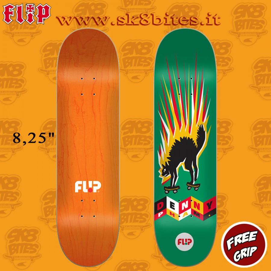 "Flip Denny Tin Toys 8.25"" Skateboard Street Pool Deck"
