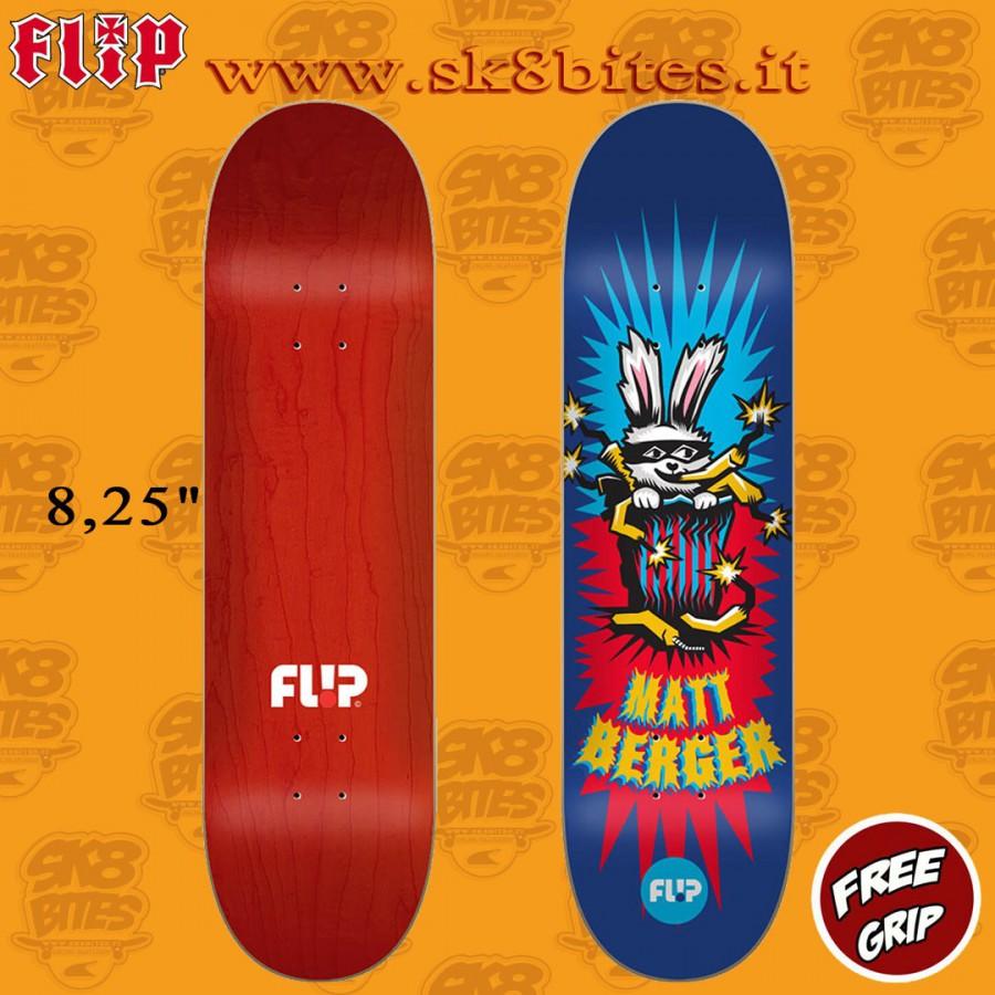 "Flip Berger Tin Toys 8.25"" Skateboard Street Pool Deck"