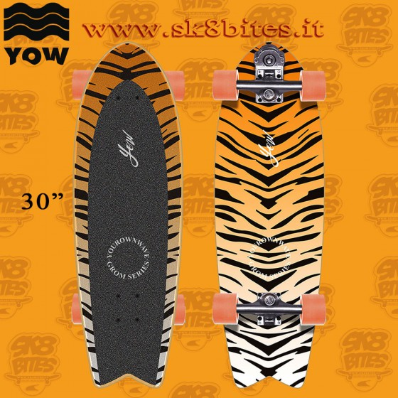 """Yow Grom Huntington 30"""" Complete Surfskate Carving Deck"""