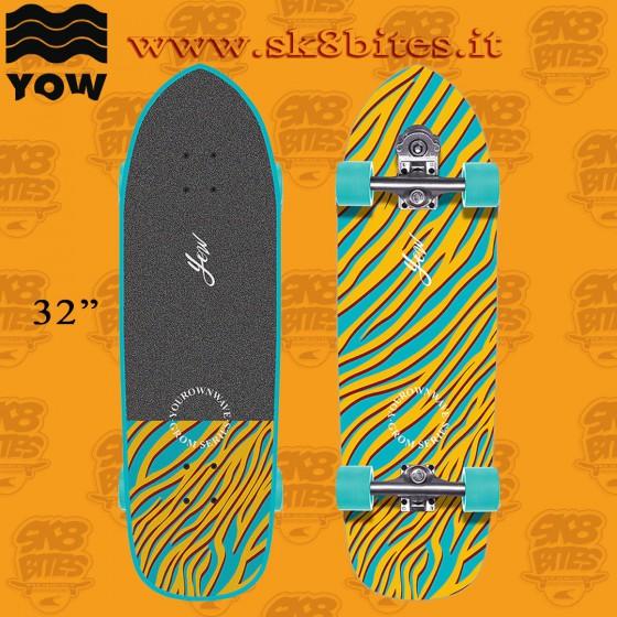 "Yow Grom Mundaka 32.5"" Complete Surfskate Carving Deck"