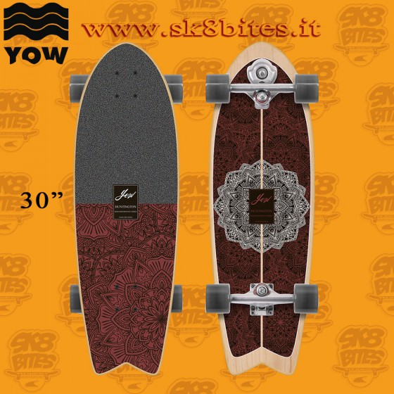 """Yow Huntington Beach 30"""" Complete Surfskate Carving Deck"""