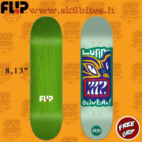 "Flip Block Oliveira 8,13"" Skateboard Street Pool Deck"