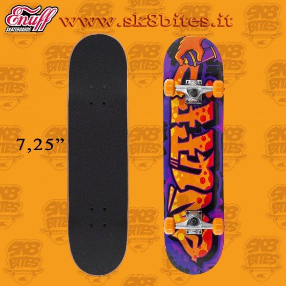 Enuff Mini Graffiti II Orange Complete Skateboard Street