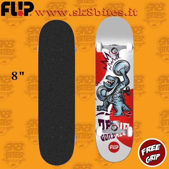 """Flip Gonzalez Tin Toys 8"""" Skateboard Street Pool Deck"""