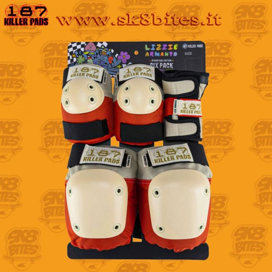 187 Killer Pads Six Pack Adult Lizzie Armanto Longboard Skateboard Skates Pads
