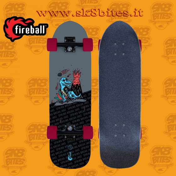 "Fireball Limited Edition Spring Break Jake 29,5"" Skateboard  Carving Cruising Deck"