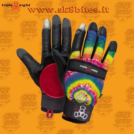Triple Eight Tie Dye Longboard Freeride Downhill Slide Gloves