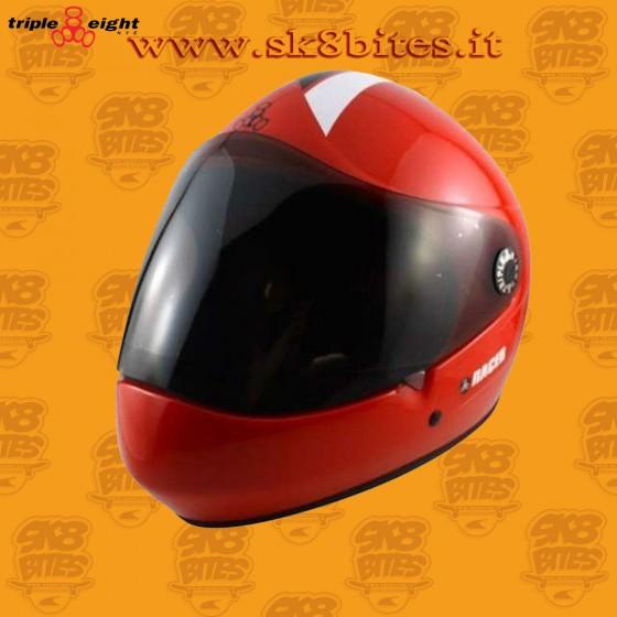 Triple Eight T8 Racer Red Longboard Downhill Freeride Helmet