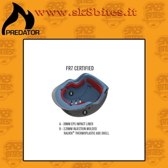 Predator FR7 EPS Black Certified Skateboard Longboard Helmet