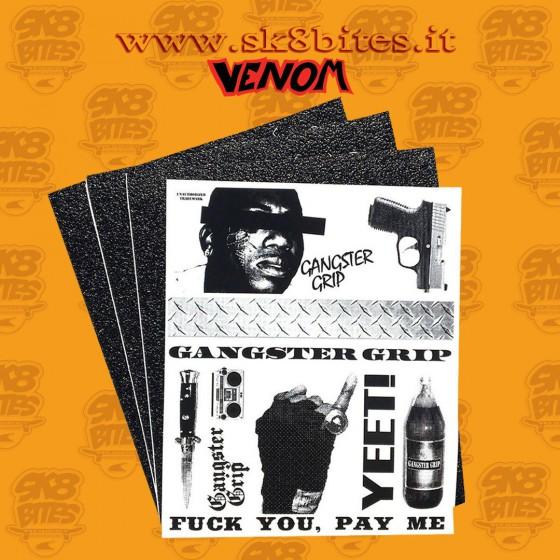 Venom Gangster Grip 3 Sheets Pack Grip ASdesivo Longboard Freeride