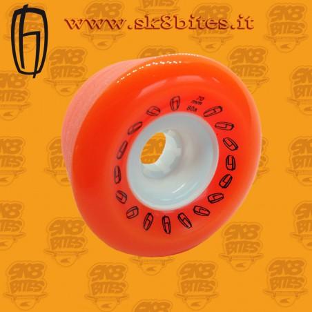 Olson Hekmati Slide 70mm 80a Orange Longboard Freeride Slide Wheels