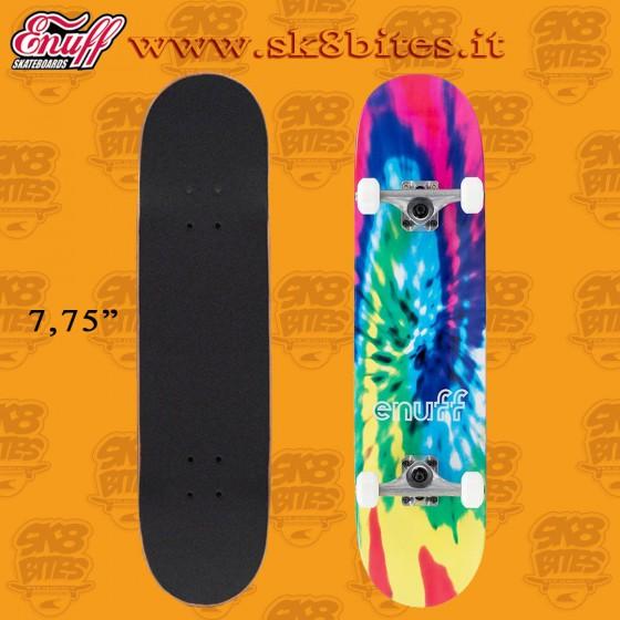 "Enuff Tie Dye 7,75"" Complete Skateboard Street Pool Deck"