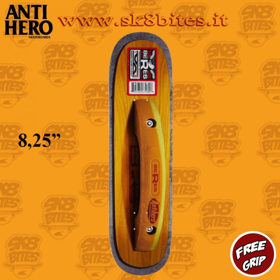 "Anti Hero Beres Floats Full 8,25"" Skateboard Street Pool Deck"