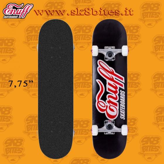 "Enuff Classic Logo Black 7,75"" Complete Skateboard Street Pool Deck"