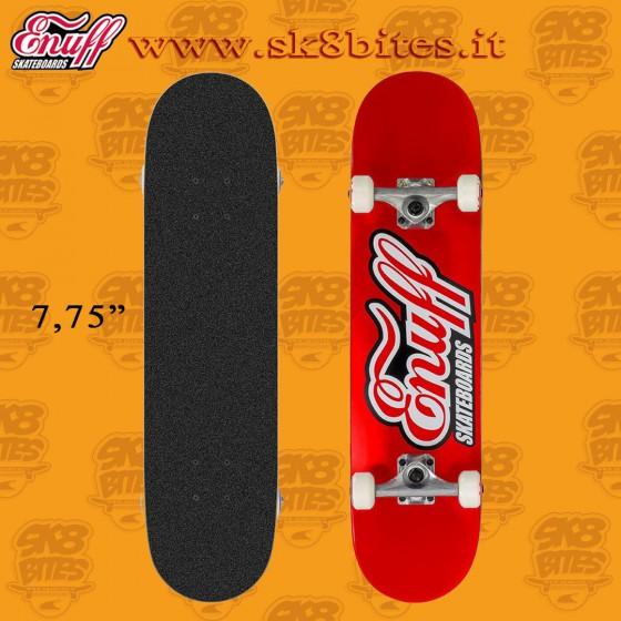"Enuff Classic Logo Red 7,75"" Complete Skateboard Street Pool Deck"
