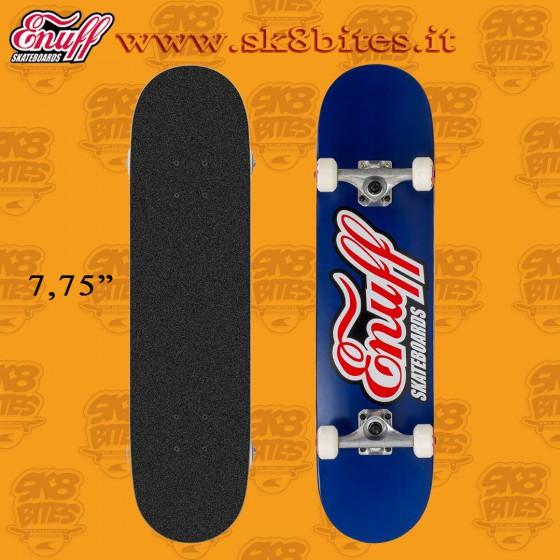 "Enuff Classic Logo Blue 7,75"" Complete Skateboard Street Pool Deck"