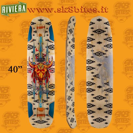 """Riviera Buffalo Blunt Kody Noble Pro Model 40"""" Skateboard Oldschool Creuising Deck"""