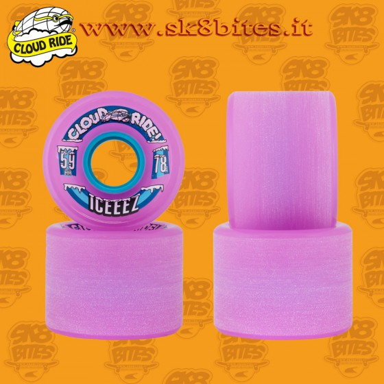 Cloud Ride Iceeez Pink 59mm 78a Longboard Slide Freeride Wheels