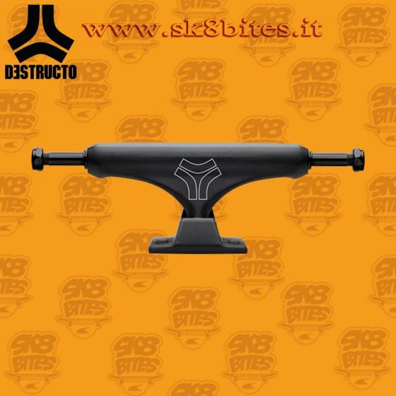 "Destructo D2 Lite Black Mid 5,5"" Skateboard Street Pool Trucks"