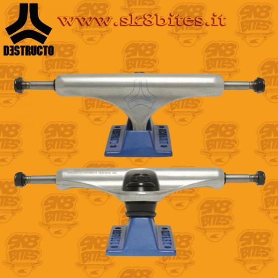 """Destructo D2 Lite Raw Blue Mid 5,75"""" Skateboard Street Pool Trucks"""