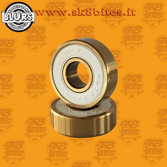 Blurs Bearings Titanium Gold Abec 9 Rated Skateboard Street Pool Bearings