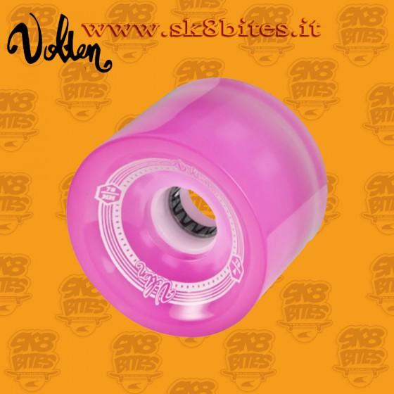 Volten Fothon Pink LED 70mm 78a Longboard Surfskate Cruising Wheels
