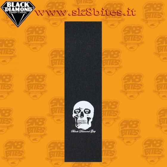 """Black Diamond Griptape Skull  9"""" Graphic Skateboard Street Pool Grip Sheet"""