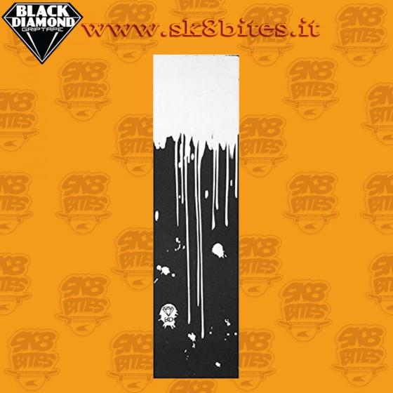 "Black Diamond Griptape Drip  9"" Graphic Skateboard Street Pool Grip Sheet"