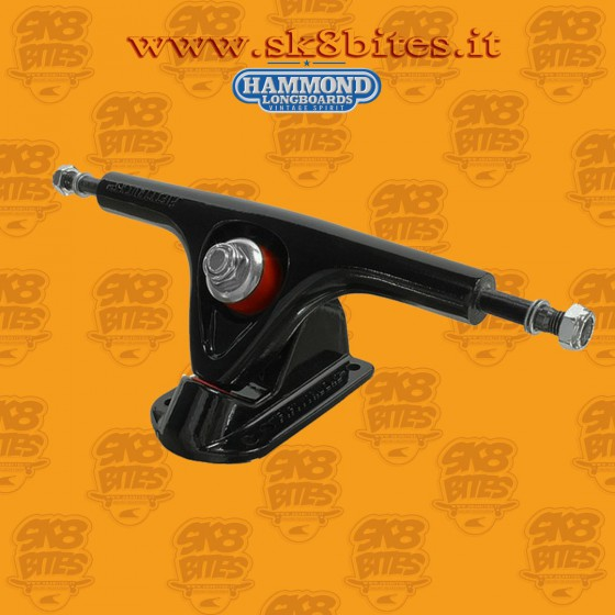 Hammond Fifty Black 180mm 50° Trucks Longboard Freeride Slide CruisingTrucks