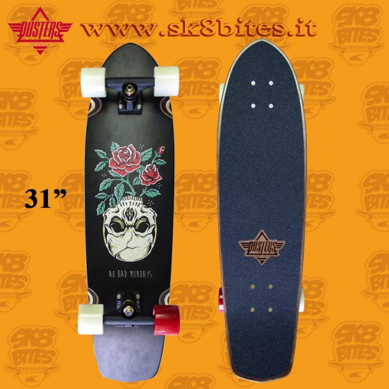 """Dusters California Mondays 31"""" Complete Longboard Cruising Carving Deck"""