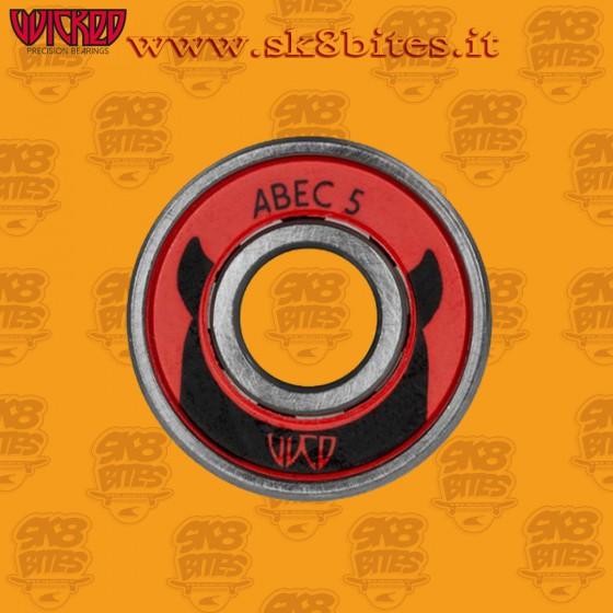 Wicked Abec 5 Single Piece Skateboard Longboard Bearings