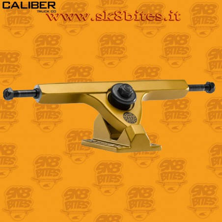"Caliber II 10"" Satin Gold 44° Trucks Longboard Freeride Slide CruisingTrucks"