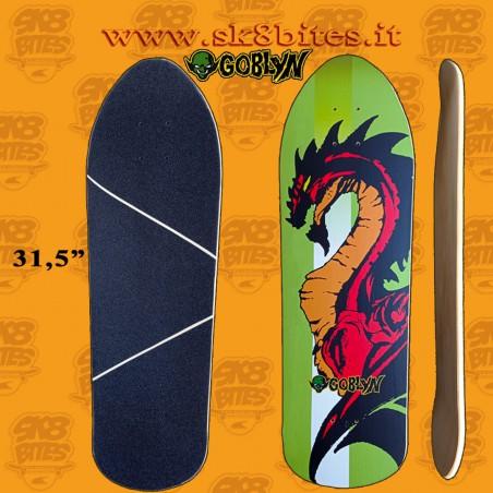 """Goblyn Dragon 31,5"""" Artisanal Surfskate Carving Cruising Deck"""
