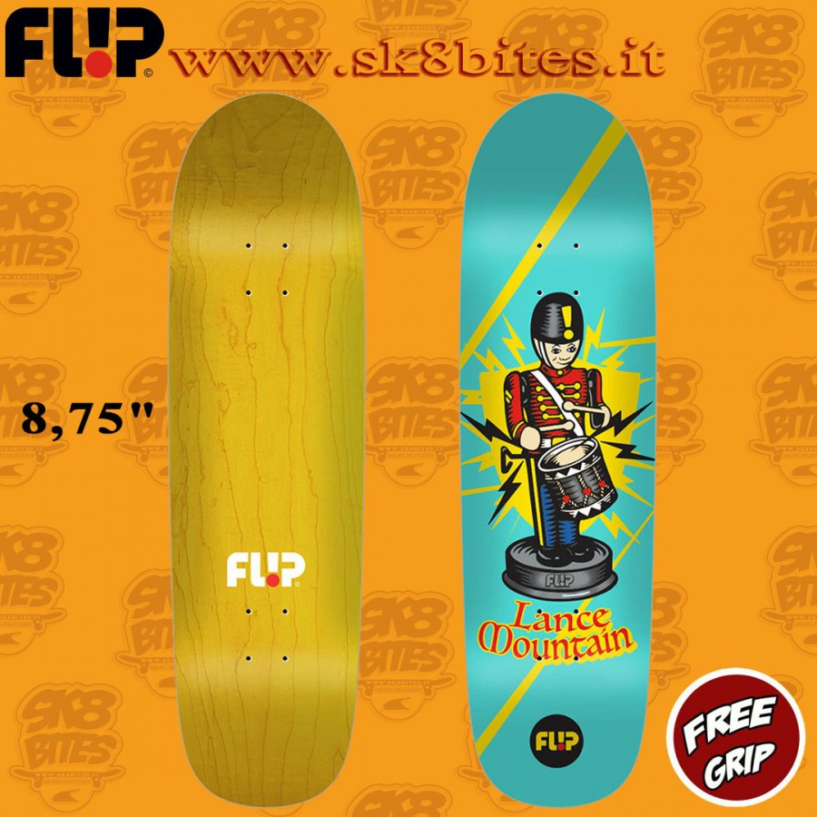"Flip Lance Tin Toys 8.75"" Skateboard Street Pool Deck"