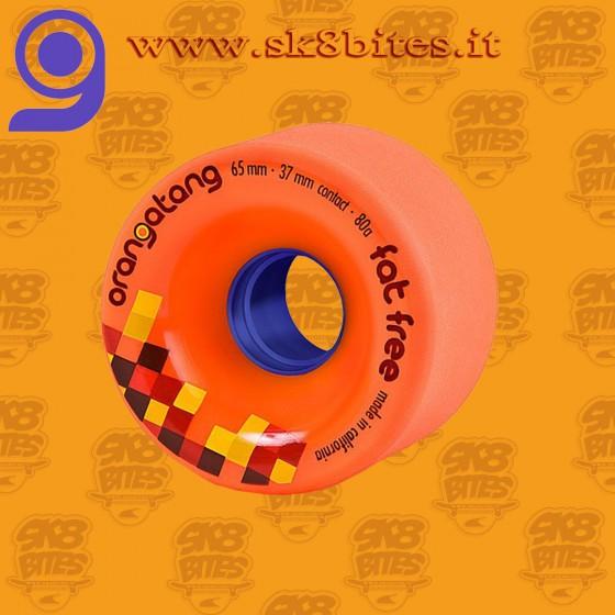 Orangatang Fat Free 65mm 80a Orange  Longboard Freeride Slide Wheels