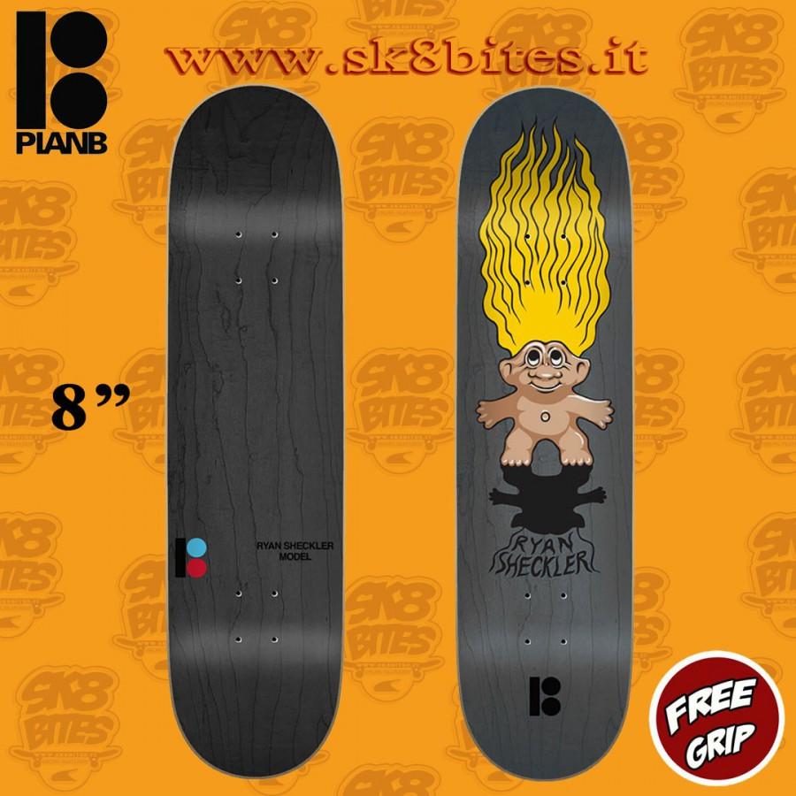 "Plan B Sheckler Trolls 8"" Skateboard Street Pool Deck"