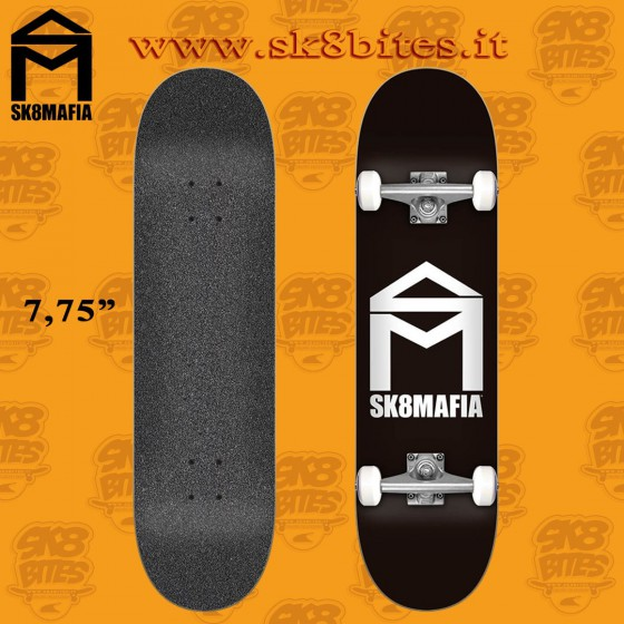 "Sk8mafia House Logo Black 7,75"" Complete Skateboard Street Pool Deck"