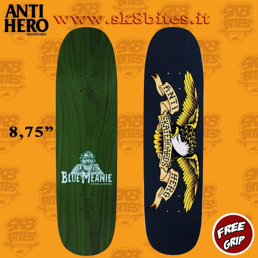 "Anti Hero Shaped Eagle Overspray Blue Meanie 8.75"" Skateboard Street Deck"