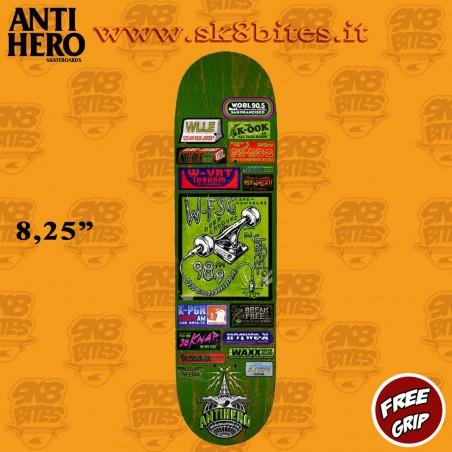 "Anti Hero Grant Taylor Broadcasting 8,25"" Skateboard Street Pool Deck"