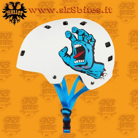 Bullet x Santa Cruz Screaming Hand Adult L/XL Skateboard Street Longboard Cruising Helmet